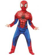 Marvel Superheroes Spiderman Deluxe Kostyme 5-6 år str 116 cm