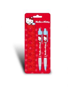 Hello Kitty blyantpenner 2 stk og linjal