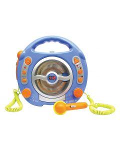 CD spiller med 2 mikrofoner - blå