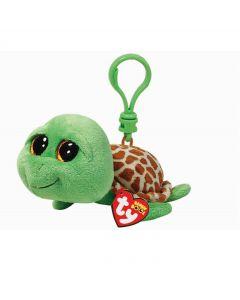Ty Zippy green turtle clip - 13 cm