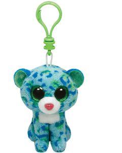 Ty Leona blue leopard clip - 13 cm