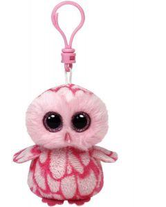 Ty Pinky pink barn owl - clip 13 cm