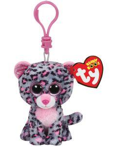 Ty Tasha pink/grey leopard - clip 13 cm