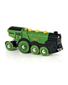 BRIO Stort, grønt og kraftig batteridrevet lokomotiv