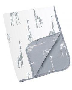 Doomoo vattert teppe - giraf grey