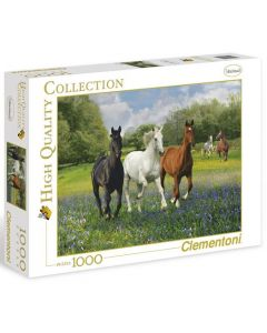 Clementoni high quality collection Horses - 1000 biter