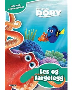 Disney Finding Dory - Les og fargelegg med klistremerker