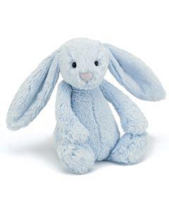Jellycat bashful blå kanin plysjbamse - 31 cm