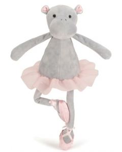 Jellycat dancing Darcy hippo plysjbamse - 33 cm