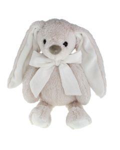 Tinka kanin 30 cm med sløyfe beige