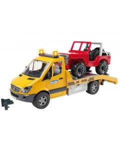 Bruder Mercedes Benz med jeep - 02535