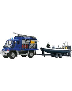 Dickie Toys unimog SOS trailersett - politibil - 48 cm
