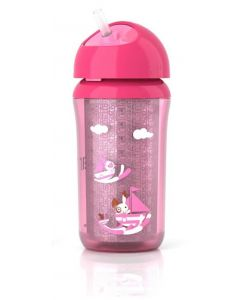 Philips AVENT Insulated Straw Cup - rosa
