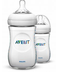 Philips AVENT Natural BPA-fri tåteflaske 260 ml 2 pk