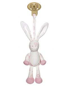 Teddykompaniet Diinglisar organic clip 16 cm - rosa kanin