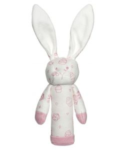 Teddykompaniet Diinglisar organic rangle 15 cm - rosa kanin