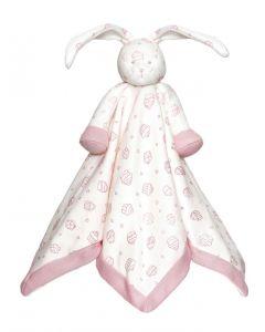Teddykompaniet Diinglisar organic sutteklut 35 x 35 cm - rosa kanin
