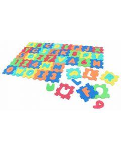 Lekematte alfabetet - skumplast - 32 x 32 cm