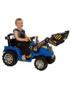 Azeno traktor med skuffe 12V - blå