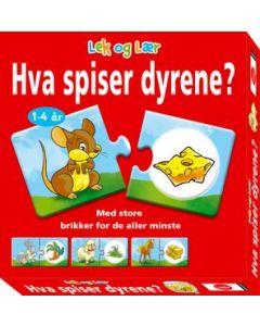 Hva spiser dyrene? barnespill
