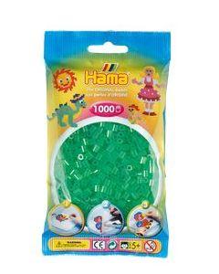 Hama Midi 1000 perler gjennomsiktig grønn