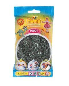 Hama Midi 1000 perler gråsort
