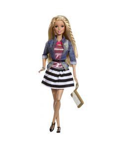 Barbie Fashion Luxe dukke Denim and stripes