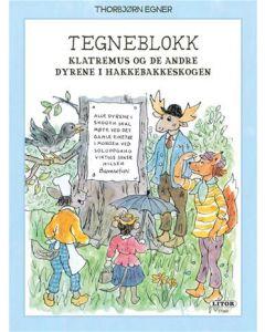 Thorbjørn Egner tegneblokk Klatremus og de andre dyrene i Hakkebakkeskogen - 64 ark