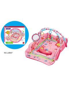 Fitch Baby babygym matte med oppkant - rosa