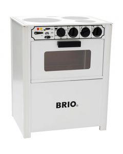 BRIO komfyr i tre - hvit 31357