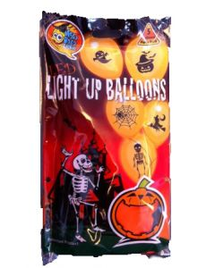 Ballonger Halloween LED 5 pakning