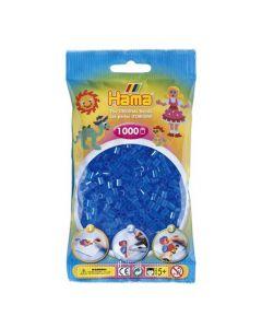Hama Midi 1000 perler Blå gjennomsiktig
