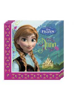 Disney Frozen Anna Servietter  - 33 x 33 cm