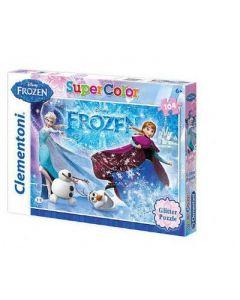 Disney Frozen glitter puslespill - 104 brikker