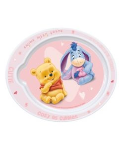 Disney Ole Brumm Babytallerken Rosa