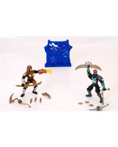 Ninja Morph Battle 2 figurer - brun og svart