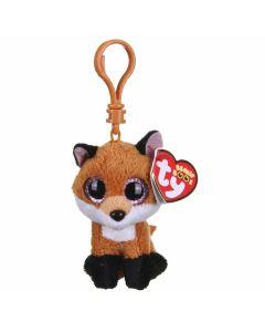 Ty Brown Fox clip - 13 cm