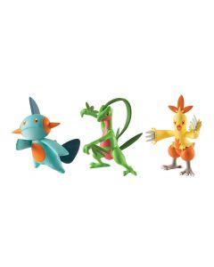 Pokemon figures 3-pack - Grovyle, Combusken and Marshtomp