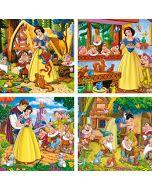 Clementoni Super Colour Disney Princess Snøhvit puslespill 4x6