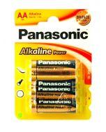 Panasonic AA Alkaline batterier 4-pakning