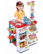 Supermarked med 24 matvarer - lyd og lys