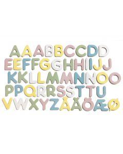 Micki magnetbokstaver 51 stk - pastell