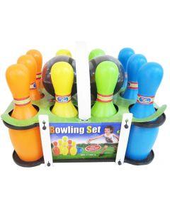 Bowlingsett til barn i plast med 2 bowlingkuler
