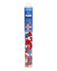 Plus Plus MINI Norwegian flag tube 100p