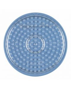 Hama Midi perlebrett - gjennomsiktig liten, rund plate