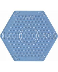 Hama Midi perlebrett - liten gjennomsiktig sekskant