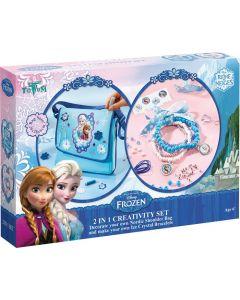 Disney Frozen stor 2-i-1 hobbyeske - veske og smykkesett