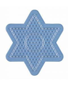 Hama Midi perlebrett - liten gjennomsiktig stjerne