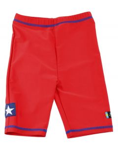 Swimpy UV-shorts Sealife rød - str 110-116