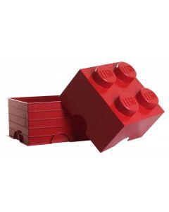 LEGO storage brick 4 - Bright Red